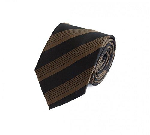 Moderne Fabio Farini Krawatte 8 cm in verschiedenen Farben, Schwarz-Braun