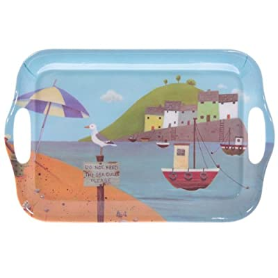 Jan Pashley Seaside Fishing Village Melamine Tray 29cm