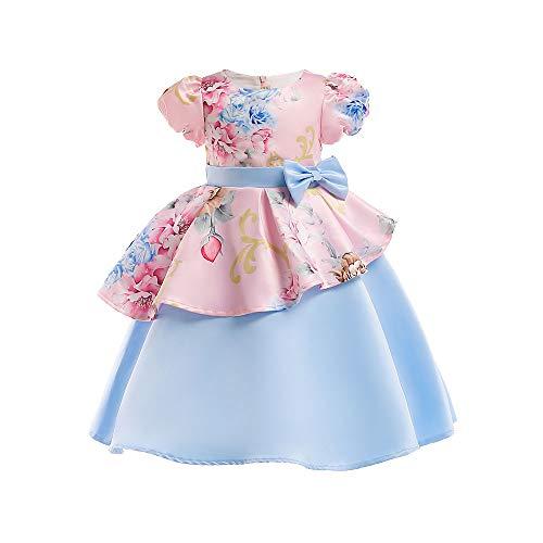 TEBAISE Ugly Weihnachten Baby Mädchen Spitze Blume Hochzeit Pageant Prinzessin Bowknot Kommunion Party Kleid für Weihnachten/Neujahr Weihnachten Baby Kleid Outfit