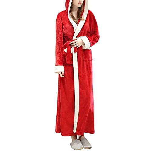 Herbst und Winter New Velvet Bathrobe Plus Long Nightgown Verdickung Pyjama Flanell Home Service Robe