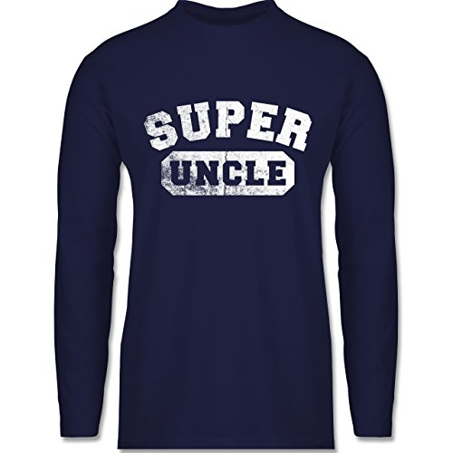 Bruder & Onkel - Super Uncle - Vintage-&Collegestil - Longsleeve /  langärmeliges T-