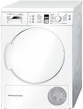 Bosch WTW84381FF Autonome Charge avant 7kg A++ Blanc sèche-linge - Sèche-linge (Autonome, Charge avant, Condensation, Blanc, boutons, Rotatif, Droite)