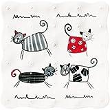 Duscheinlage Duschmatte Antirutschmatte extravagante Katzen 53cm x 53cm Vinyl
