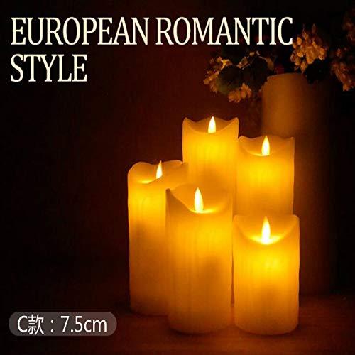 Familien-licht-stehlampe (LEDelektronische Kerze Licht schwingen Simulation Paraffin gefälschte Kerze (3Stück)CAbschnitt Tearing Swing ¢7,5 * 15CM)