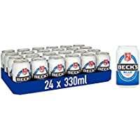 Beck's Blue Alcohol Free Beer Cans, 330 ml, Case of 24