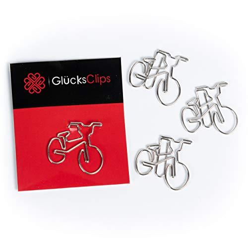 Graffette, 11 x graffette per ufficio, motivo: bicicletta, come decorazione o segnalibro. Paperclip I Paper Clips, Fermacarte o Bookmark, per ufficio o casa, C011
