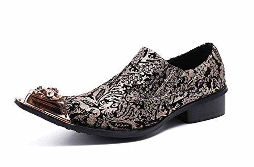 GLSHI Hommes Britanniques Occasionnels Chaussures Richelieu sculptés Chaussures pour Hommes Nouvelle Mode Chaussures en Cuir Respirant