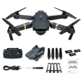 Ouneed- E58 Drones Plegables Selfie Drone RC con cámara de 2MP 720P, WiFi FPV RC Quadcopter con 3 baterías (B)