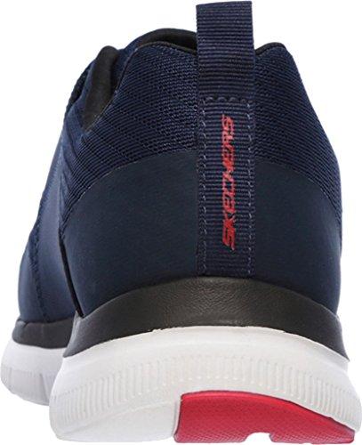 Skechers 52183 hommes Baskets Navy/Rouge