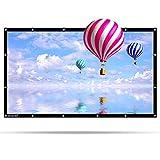 Tragbare Beamer Leinwand PVC Material Henzin 100 Zoll 16:9 Format 4K 3D HD für Heimkino/PPT-Präsentation/Outdoor