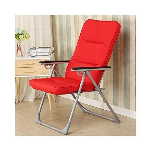 YMXLJF Einzelsessel, Freizeit Klappstuhl, moderne minimalistische Stuhl, Lounge Chair, (Farbe : Rot) - Rote Moderne Lounge-stühle