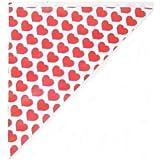 100 Spitztüten Herzen rot wie auf der Kirmes 125 Gramm