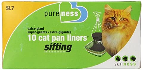 Pureness Ebytra Giant Sifting Cat Pan Liners, 10 Count by