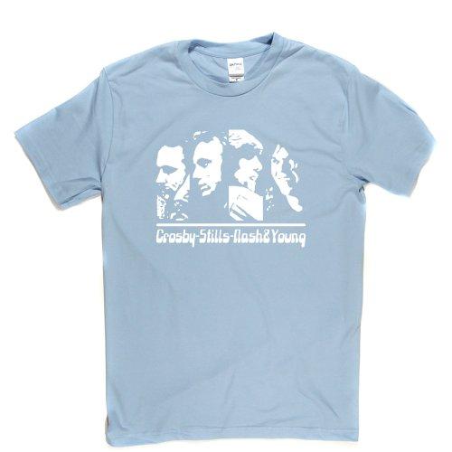 CSNY Folk Music Supergroup T-shirt Himmelblau