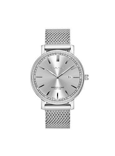 Gant Nashville Men's Quartz Watch with Silver Dial Analogue Display and Silver Stainless Steel Strap Gt006009