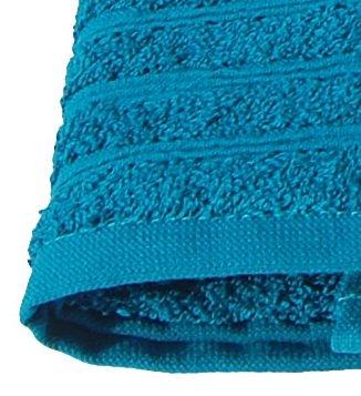 Wellness Saunatuch petrol - blau, Badetuch XXL bestickt mit Sauna 80x200 cm aus 100 % Baumwolle -