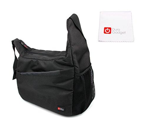 DURAGADGET Transport-Tasche mit Schulterriemen und Mikrofaser Reinigungstuch für Libratone Too | One Style | One Click | Zipp Mini Lautsprecher