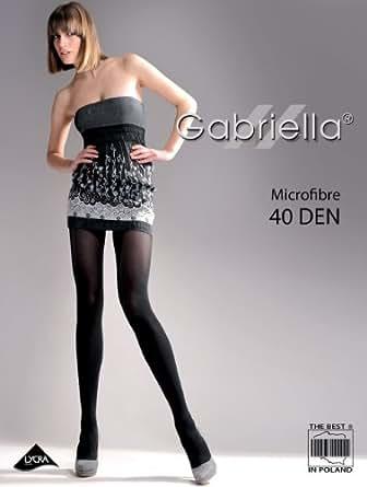 Gabriella - Collants Opaques - Microfibre 40 DEN (Carmen, S (32-36))