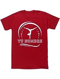 HippoWarehouseSILUETA GIMNASTA FEMENINA PERSONALIZADA (Añade tu nombre al diseño con un solo mensaje)camiseta