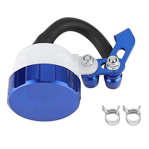 Cilindro de Aceite de la Motocicleta CNC Universal Depósito de Frenos Embrague Delantero Tanque Botella de Fluido(Blue)