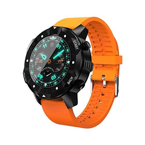 PXYUAN Fitness-Tracker, wasserdichter Aktivitäts-Tracker mit Herzfrequenz-Blutdruck-Blutsauerstoffmonitor, Smart Wristband Man Bluetooth-Uhr-orange