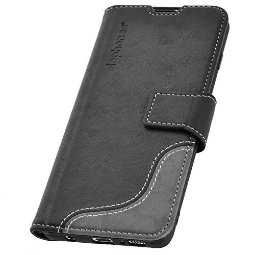 elephones® Handyhülle für Samsung Galaxy S10 Hülle - Kompatibel mit Galaxy S10 Handy-Tasche Schutzhülle Flip Case Schwarz