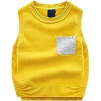 GKKXUE Suéter de primavera y otoño para niños Suéter de cuello alto de algodón con