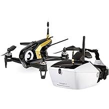 Walkera 15004480 FPV Racing-Quadrocopter Rodeo 150 RTF Drohne mit HD-Kamera, Goggle V4 Videobrille, Akku, Ladegerät und Devo 7 Fernsteuerung, schwarz