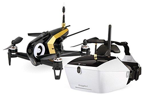 Walkera FPV 15004480QuadroCopter de Racing Rodeo 150Drone RTF avec caméra HD, Masque V4Lunettes vidéo, batterie, chargeur et Devo 7Télécommande Noir