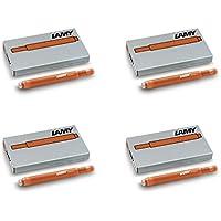 Lamy T10cartucce di inchiostro–4x casi di 5rame arancione edizione 2015(20Cartucce in Totale) - Casi Fountain Pen