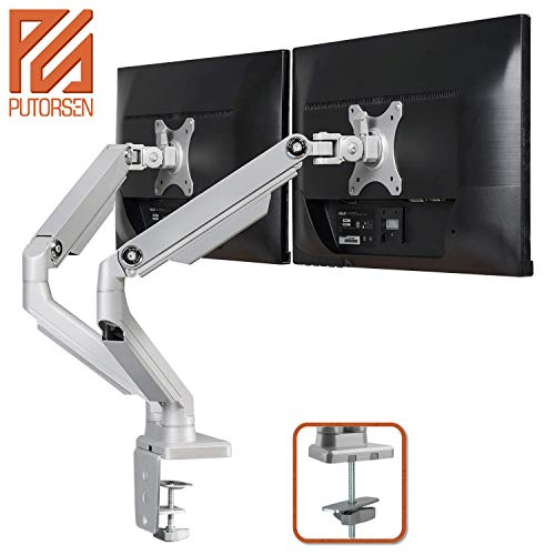 PUTORSEN Support Moniteur Support de Bureau pour écran pc LCD LED OLED 17-32 (43-81 cm), à 2...