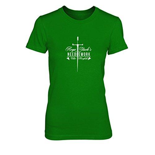 GoT: Needlework - Damen T-Shirt, Größe: L, Farbe: grün (Das Lied Von Eis Und Feuer Buch Set)
