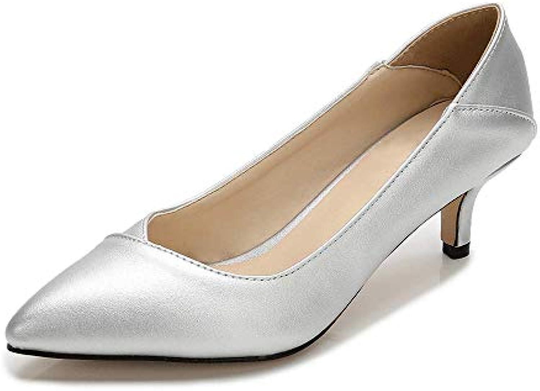 a6b54b9f60e Sobrisah Women s Fashion Classic Pointy Toe Low Kitten Heel Heel Heel  Office Dress Slip On Pump B07HGSLR2J Parent abd4f0