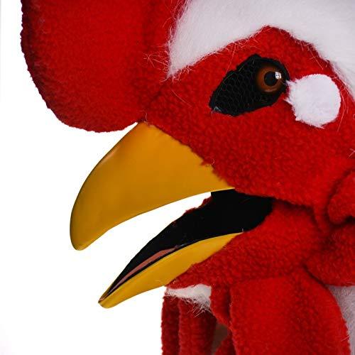JINHUA Trade-Mask Mascarilla de Animal Mascarada Popular Serie Mascarada máscara de Boca Amarilla Polla simulación Animal máscara Mascarada ( Color : White , Size : 25*25 )