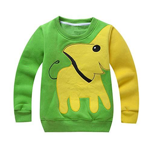 echo4745 Baby Outfits Sweatshirt Kleinkind Hoodie Mädchen Jungen Kleidung Elefant Baumwolle Lange Ärmel T-Shirt Bluse Tops Pullover Langarmshirts Sport Tops Oberteil