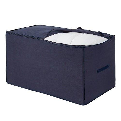 H & l russel jumbo bag - contenitore per piumoni e cuscini, colore: blu con bordi celesti