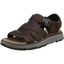 Herren Clarks Leder unstrukturiert geschlossene Sommersandalen Schuhe un Gala