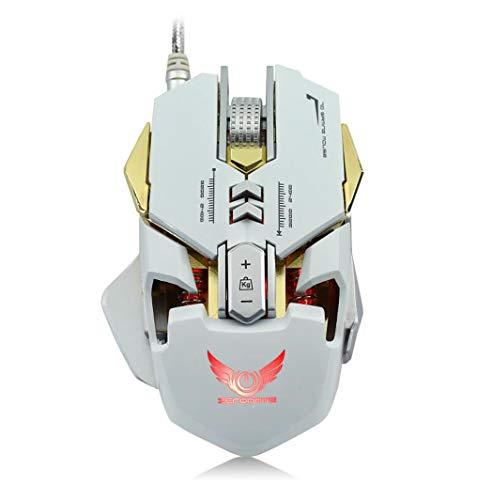 Mechanische Maus-Kabel A3050 Chip 3200Dpi7 Key Makro Definition Backlight Gaming Mouse Für PC-Computer-Notebook,White - White Mobile Maus