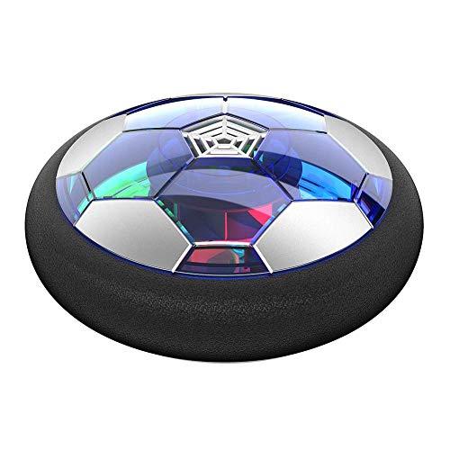 ckground Kinderspielzeug Air Power Soccer Ball Wiederaufladbarer Air Football mit Schaumstoffpolsterung und LED-Leuchten -