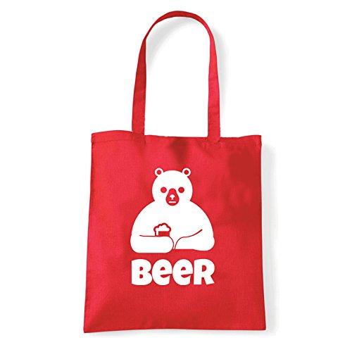 Art T-shirt, Borsa Shoulder Beer, Shopper, Mare Rosso