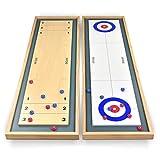 GoSports Shuffleboard und Eisstockschießen 2in 1Board Game