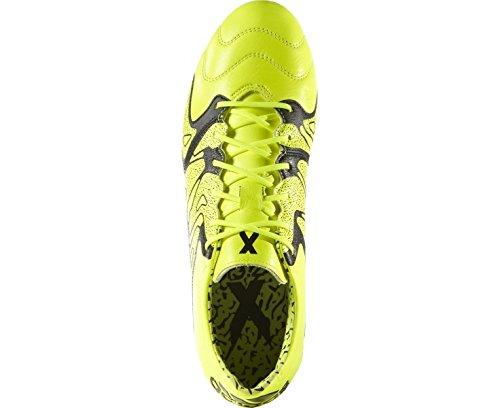 adidas X 15.2 Fg/ag Leather Herren Fußballschuhe neongelb / schwarz
