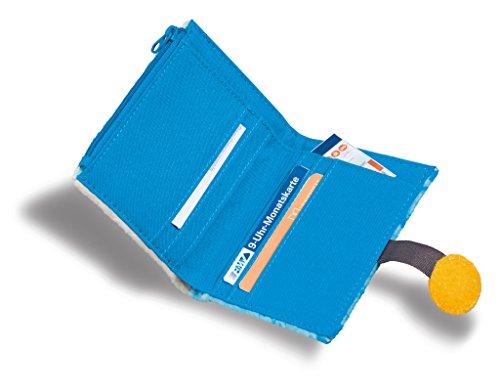NICI 41979Color: Blanco Material de Peluche de 100% poliéster Forro Interior: Nylon Sesam Calle Dinero Bolsa Monstruo, 8,5x 12cm, Color Azul