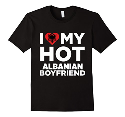 I Love My Hot Albanian Boyfriend Albania Native T-Shirt Herren, Größe 2XL Schwarz