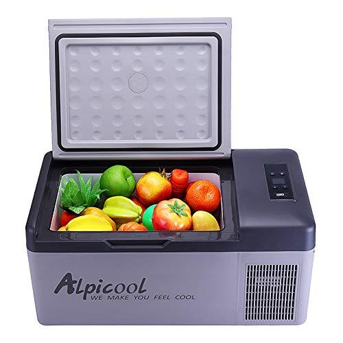 Bureze APP Tragbarer Gefrierschrank für Camping, Auto, Boot, Wohnwagen, Bar, Mini-Kühlschrank, 15 l