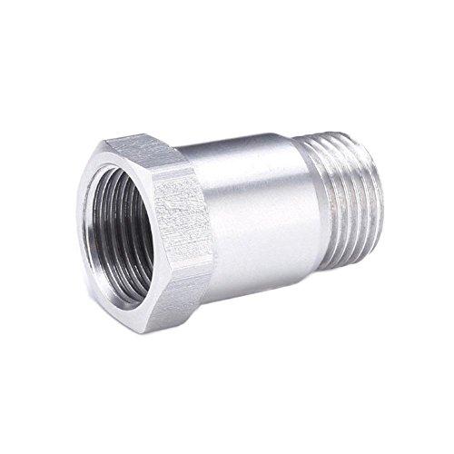 RUNGAO 32mm O2Sensor Test Rohr Extender Sauerstoff Verlängerung Spacer Bung M18x 1,5Edelstahl