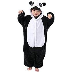 Katara Pijama con capucha para niños, color negro, panda, 3-5 años (CN 110) (1830)