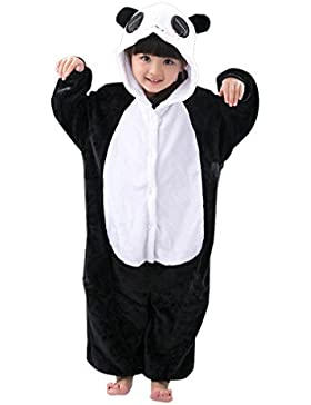 Kigurumi Mameluco Pijama con Capucha para Niños - Traje Disfraz Infantil de Animal para Otoño, Invierno Panda...