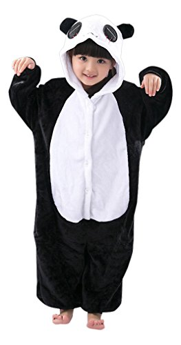 - Panda Kostüm 2 - 9 Jahre - Gemütlicher Jumpsuit für Fasching, Cosplay, Karneval - Plüsch Verkleidung für Party als witziger Pandabär (Kung Fu Panda-halloween-kostüme)