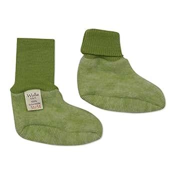 Cosilana Chaussons Pour Bébé Taille 50/56 Cm-Couleur : Vert/Jaune)